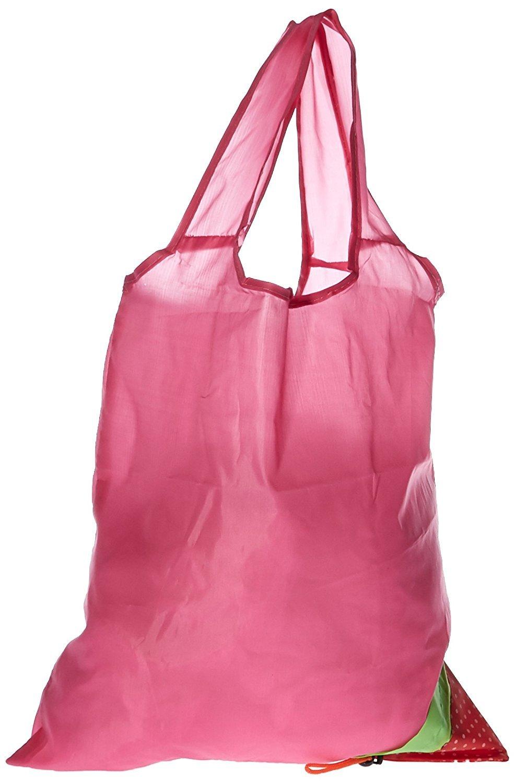 Shopping r/éutilisable paquet de 3-Rouge,Rose,Orange Chez HNYM-Belle cerise-Sac /à provisions pliable de courses