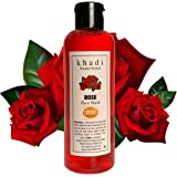 Khadi Natural Herbal Rose Face Wash 200ml    Naturally Fragrant    Deep Cleanser    Radiance and Glow to Face    Refreshing and Rejuvenating    Cleans pores and softens skin   