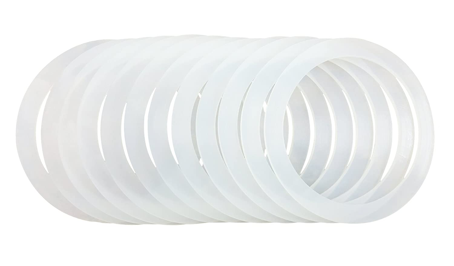 12 Silicone Gasket Sealing Rings For Mason Jar/Ball Plastic Storage Cap, Reusable Food-Grade Airtight Rubber Seal For Caning Jar Plastic Lids (12 REGULAR MOUTH)