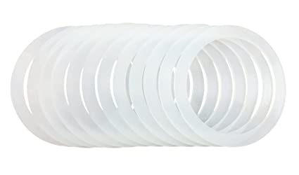 12 Silicone Gasket Sealing Rings For Mason Jar/Ball Plastic Storage Cap,  Reusable Food