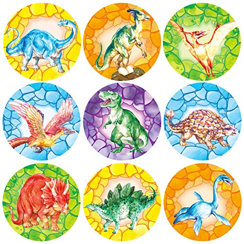 Dinosaur Stickers 200 Pcs Roll Sticker for Halloween Party School Decoration Reward Sticker -