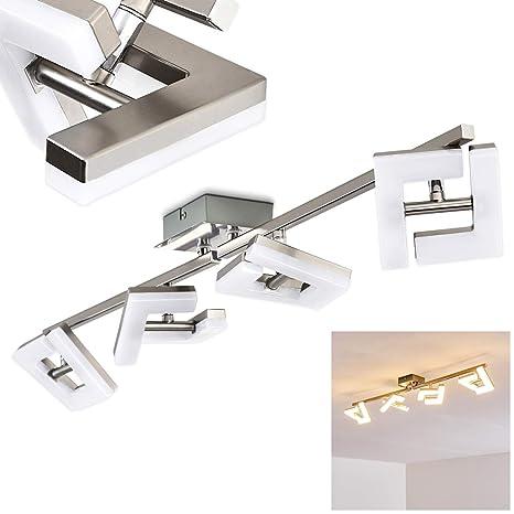 Lámpara de techo LED Lago - níquel mate - 4 luces- Lámpara ...