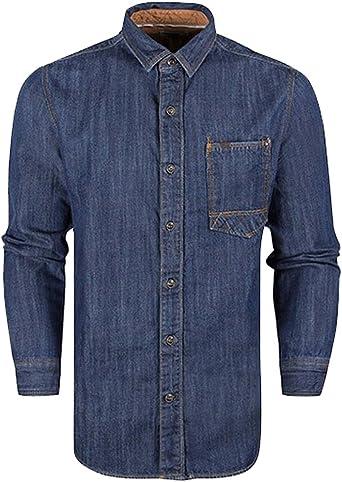 Timberland - Camisa de vestir - Tops - Clásico - para hombre azul Small: Amazon.es: Ropa y accesorios