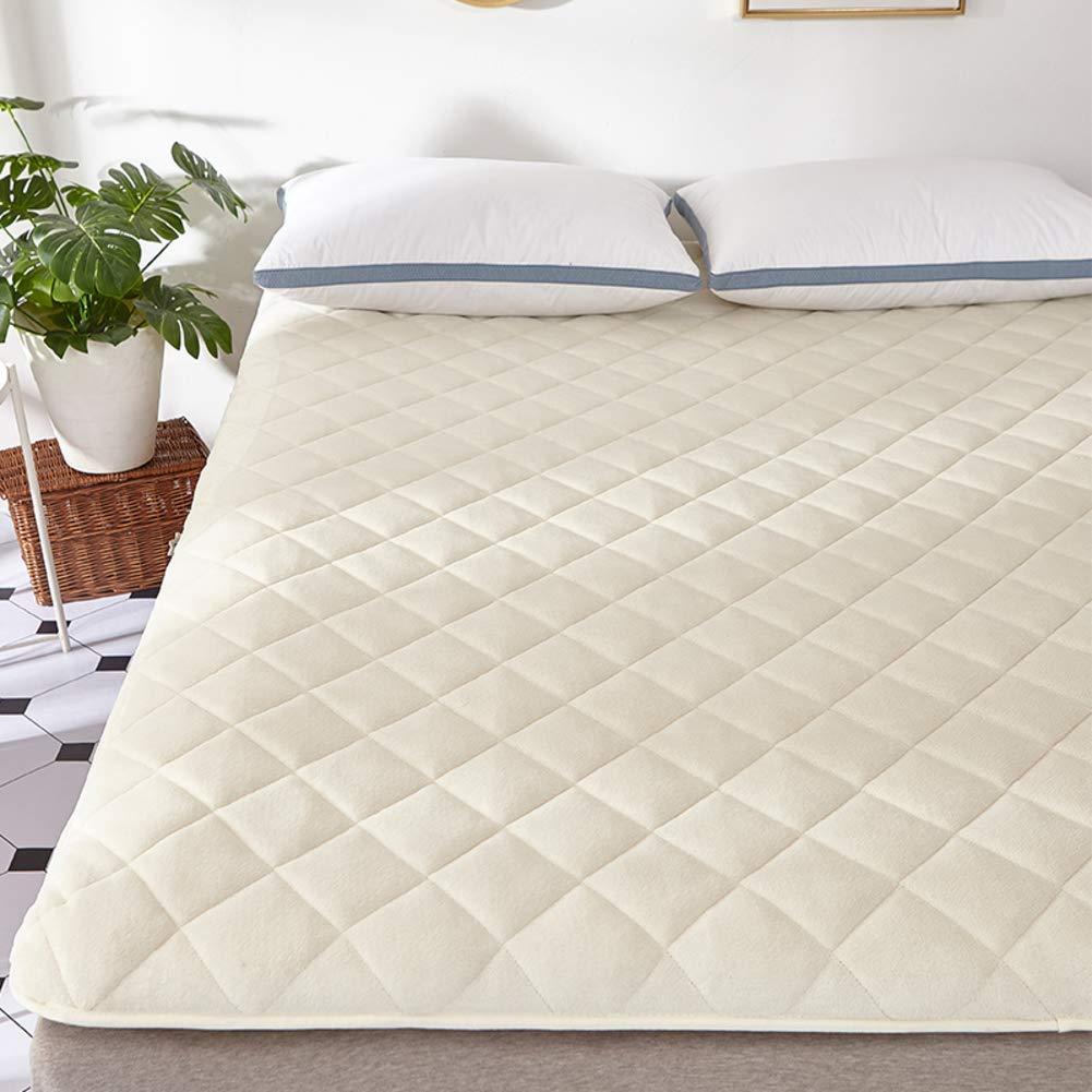 HIGHKAS Verdicken Sie Tatami Matratze, Flanell Gesteppte Bodenmatte Faltbare Futon rutschfeste atmungsaktive Matratze Pad Feuchtigkeitstransport-B 150x200cm (59x79inch)