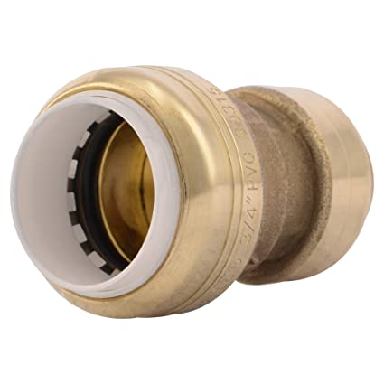 SharkBite PVC Fitting UIP4016A 3/4 inch X 3/4 inch CTS, PVC Connector to  Copper, PEX, CPVC, HDPE or PE-RT for Potable Water