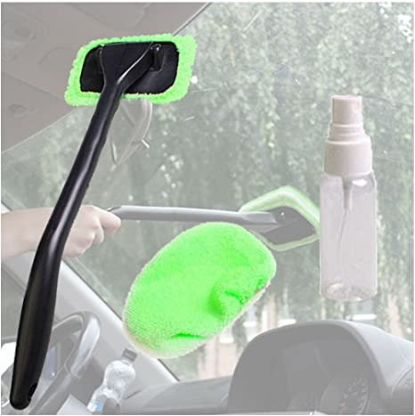 Grebest Car Windscreen Cleaning Kit Car Cleaning and Maintenance Storage Pouch Universal Car Vehicle Windscreen Washer Pouch Bag Cleaning Kit with 12V Pump