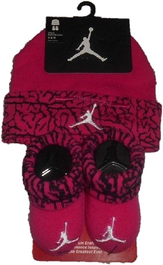 Nike Jordan - Juego de 2 botas y gorro para bebé, color rosa ...