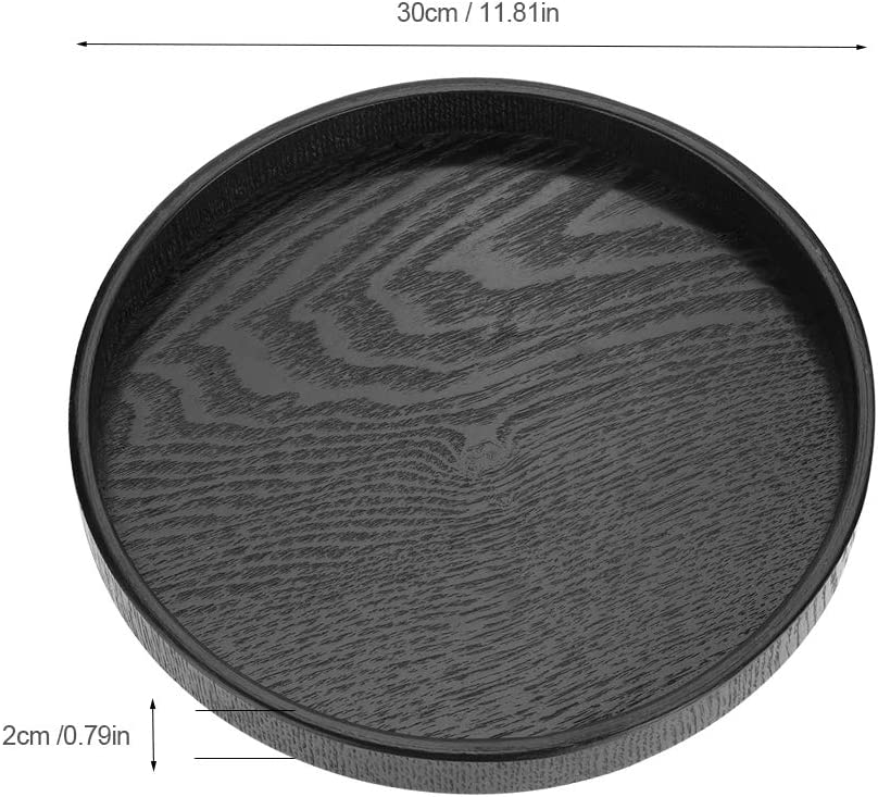 Assiettes Antid/éRapantes En Bois Noir Super Rond 21cm 21Cm // 24Cm // 27Cm // 30Cm Plateaux De Service