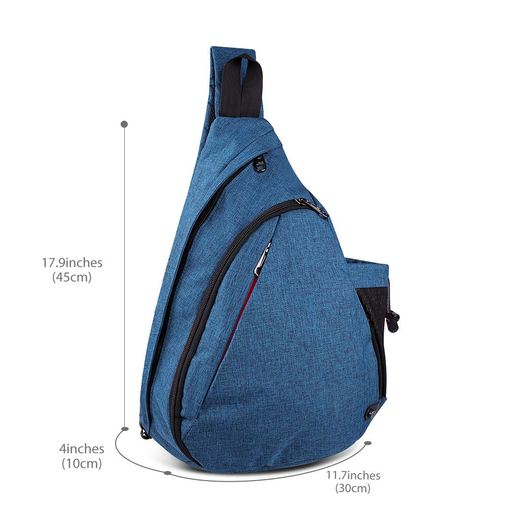 a139fc52a Amazon.com: OutdoorMaster Sling Bag - Crossbody Backpack for Women & Men  (Azure Blue): Sports & Outdoors