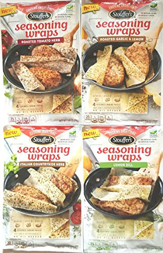 4 Seasoning (Stouffer's Cooking Creations Seasoning Wraps Variety Pack of 4)