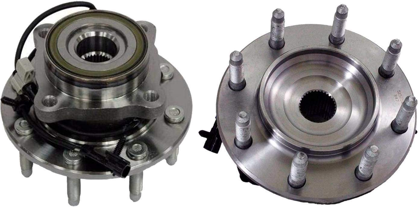 Wheel Hub and Bearing Assembly Front for Chevy Silverado GMC Sierra 2WD w//8Lug