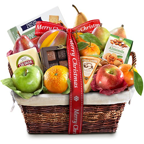 Golden State Fruit Deluxe Gift Basket, Merry Christmas