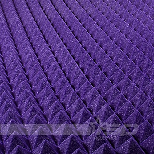 12x12x2-12-pack-purple-acoustic-pyramid-sound-proofing-treating-studio-foam-tiles