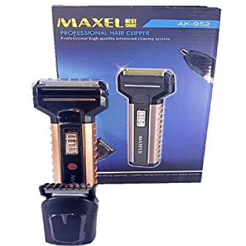 Maxel Multi Functional Hair Clipper, Shaver  amp; Nose Trimmer Ak 952 For Men  Black