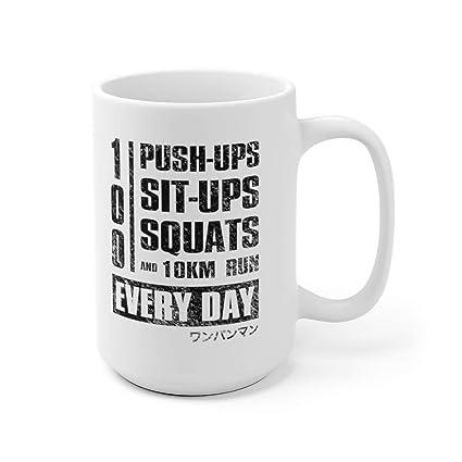 Amazon com: 100 Push-ups Everyday One Punch Man Inspired GYM