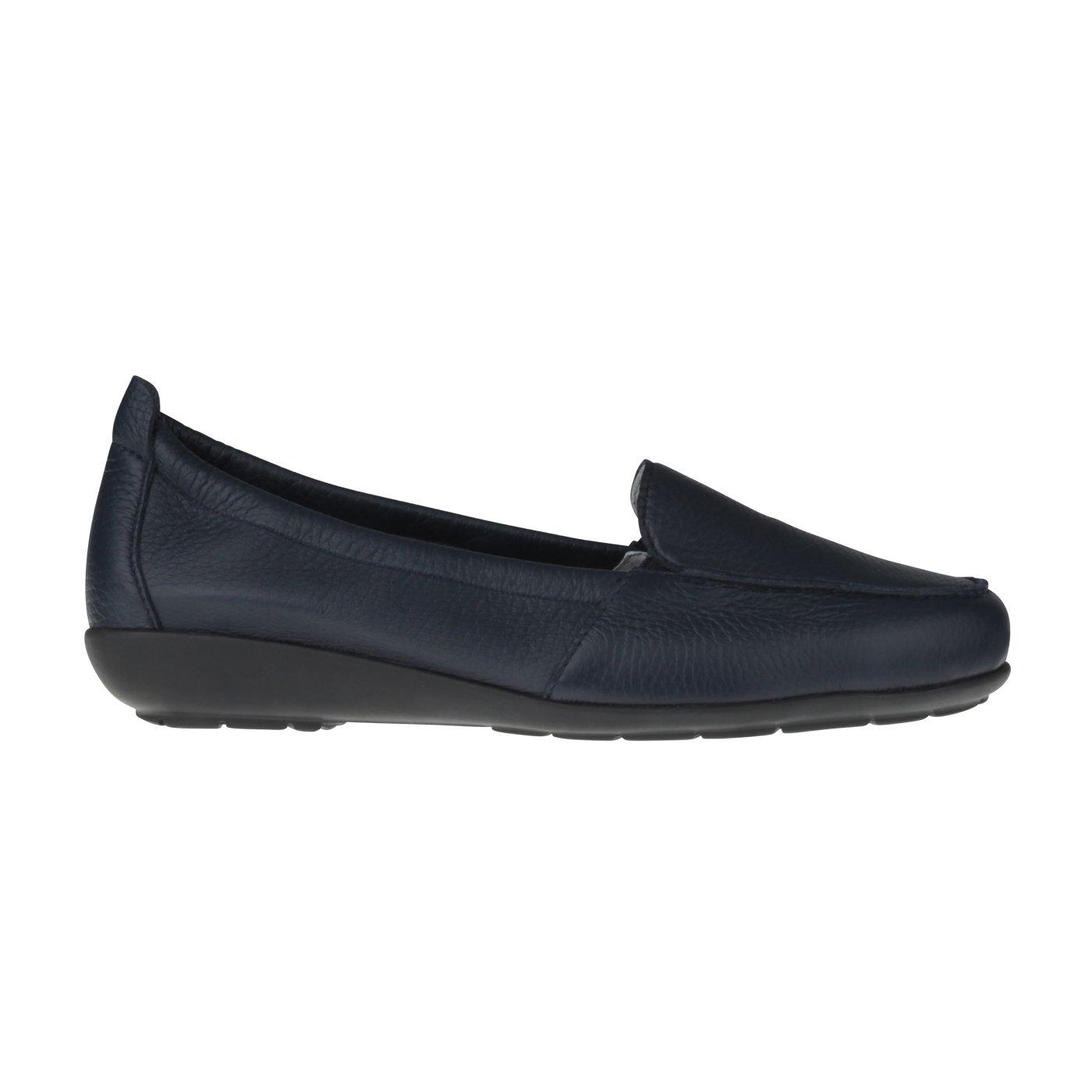Natural Feet Tessamino Damen Mokassin Aus Hirschleder   Klassisch   Einlagen Weite H   für Einlagen   Dunkelblau 945615