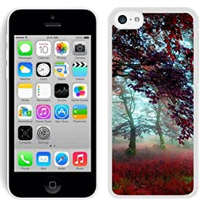 New Beautiful Custom Designed Cover Case For iPhone 5C With Red Effect Autumn Forest (2) Phone Case