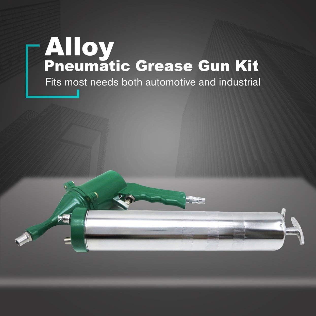 MAXPOWER Pistolet /à graisse Haute Pression 400cc Pistolet /à graisse Heavy Duty 10000 PSI avec tuyau flexible et injecteur en m/étal 14oz