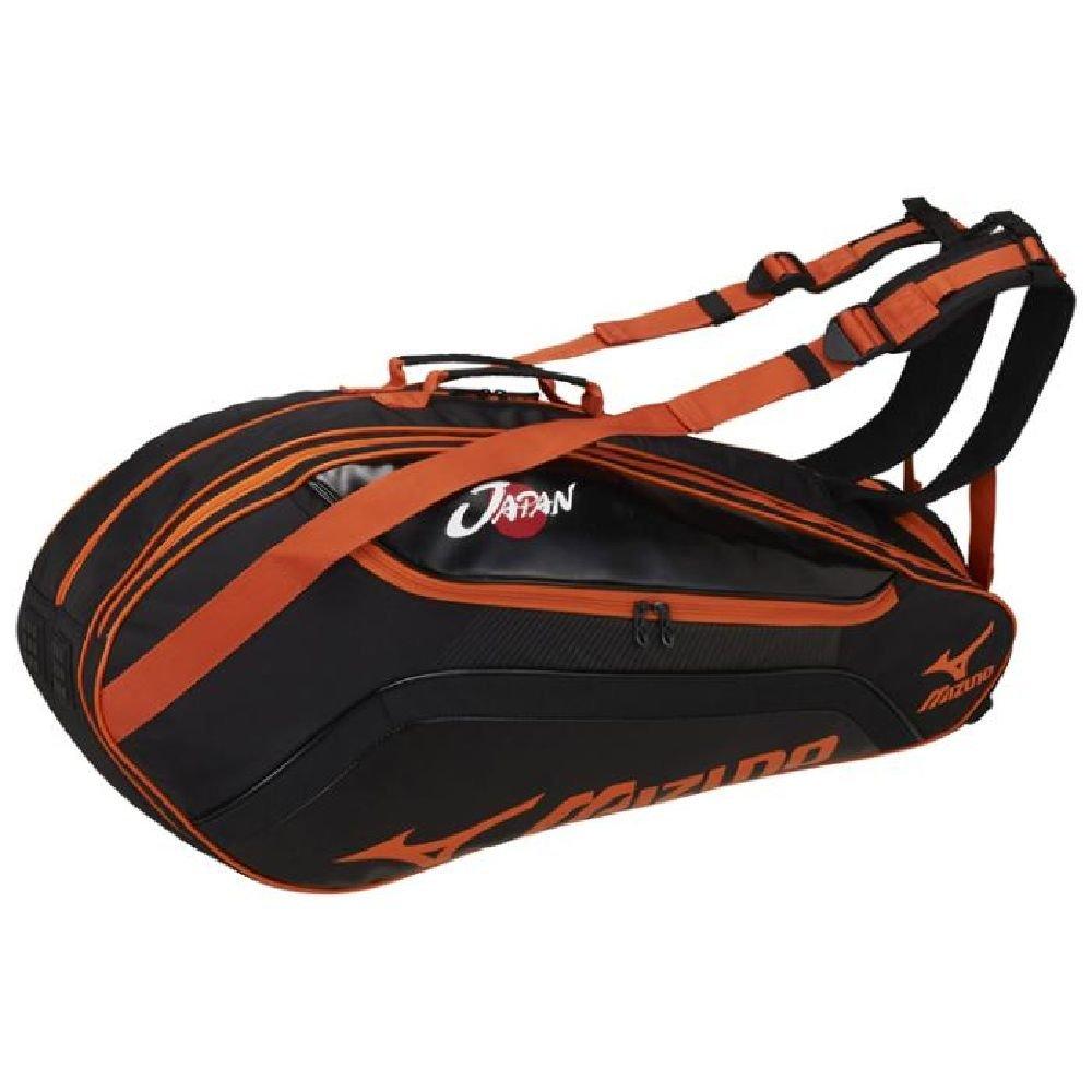 MIZUNO(ミズノ) テニスバッグ ラケットバッグ 6本入れ 63JD7002 B01MSMSZLG 93:ブラック×オレンジ