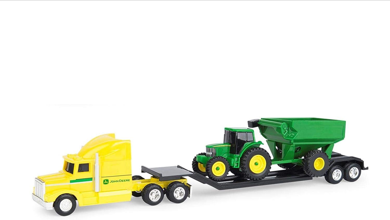 Amazon.com: John Deere: amarillo Hauler Semi con tractor y ...