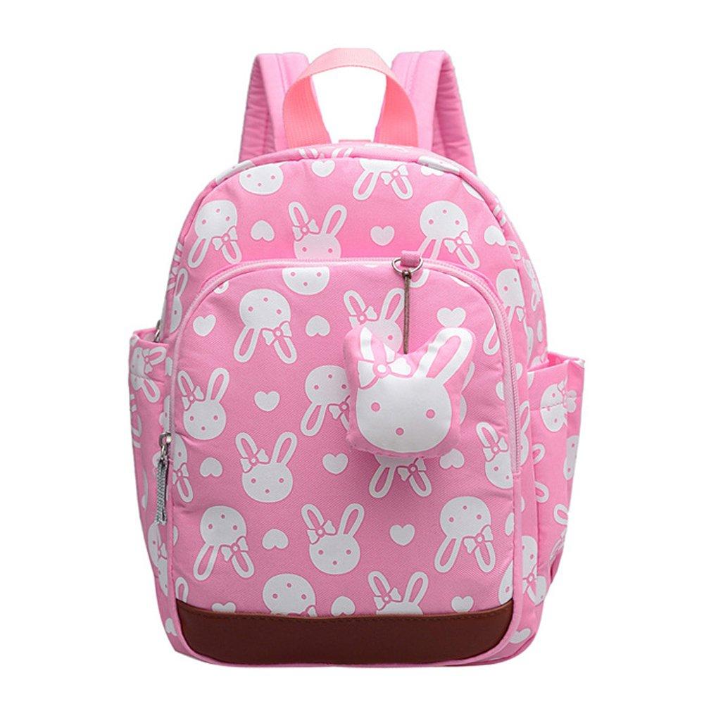 CUILEEキッズスクールバッグセーフティハーネス付きかわいいベアベビーバックパック手入れ用託児所子供用ベルト、ピンク   B074XD3865