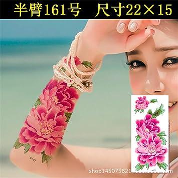 tzxdbh Pegatinas de Tatuaje, Flores Impermeables y duraderas ...