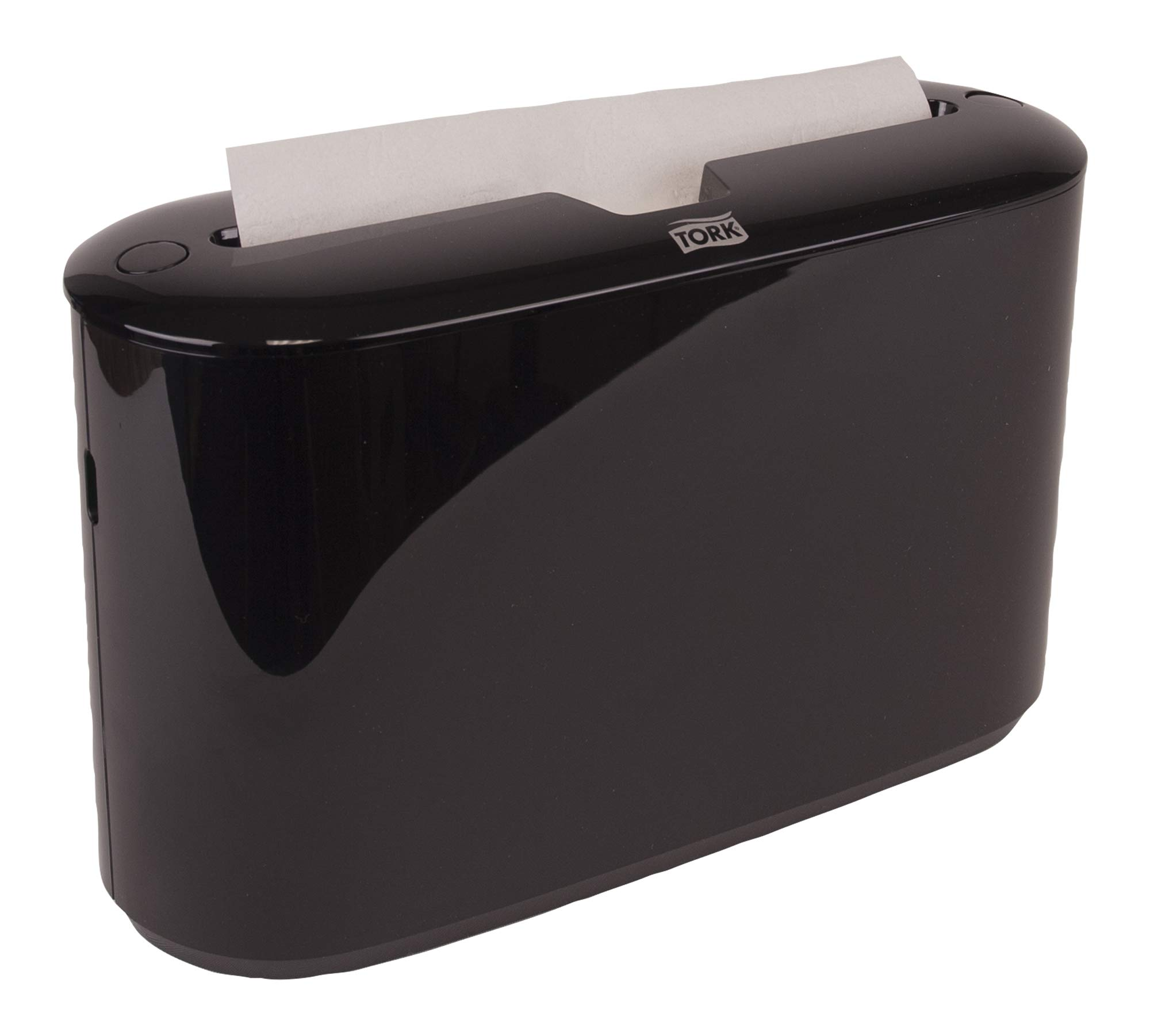 Tork Xpress 302028 Countertop Multifold Hand Towel Dispenser, Plastic, 7.92'' Height x 12.68'' Width x 4.56'' Depth, Black (Case of 1) For use with Tork MB550A, MB640, MB540A by Tork (Image #2)