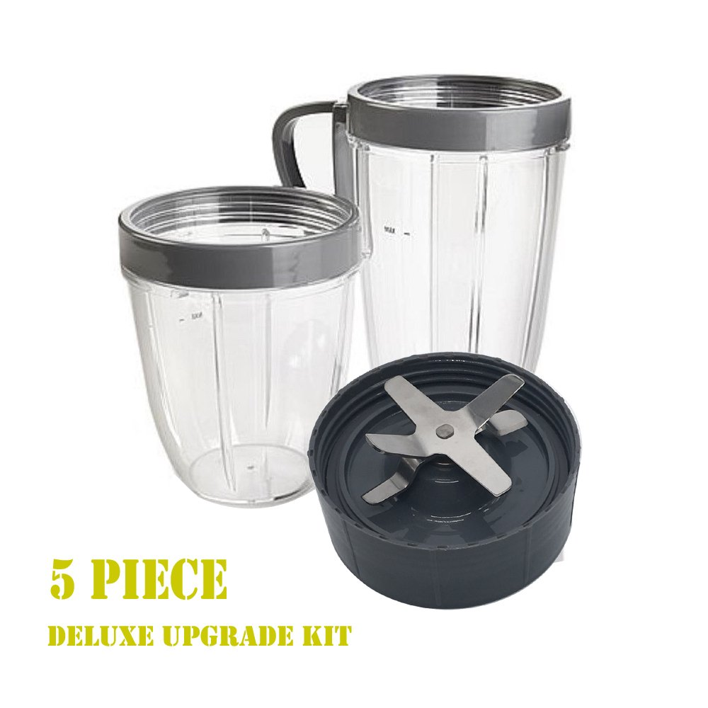 Best Rated In Juicer Parts Accessories Helpful Customer Reviews Replacement And Upgrade New 5piece Cup Blade Set For 600w 900w Nutribullet High Speed Blender Mixer