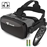 VeeR Falcon VR Headset with Controller, Eye Protection Virtual Reality Goggles to Comfortable Watch 360 Movies for Android, S
