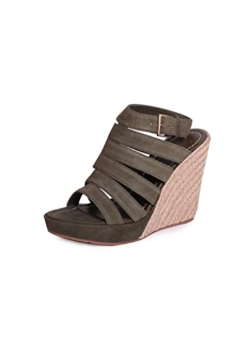 735cca72fdc Tory Burch Bailey Lancaster Suede Multi-Strap110 mm Wedge Espadrille Wedges  In Banana Leaf Size