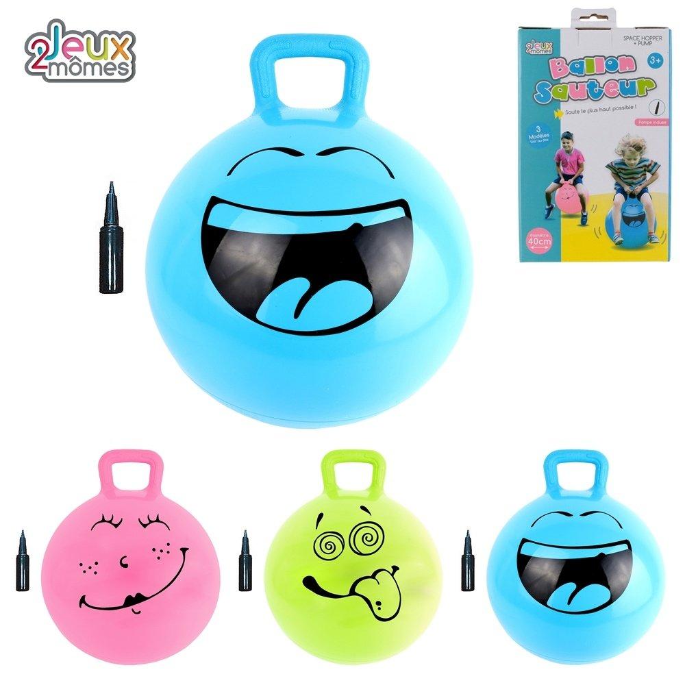 Jeux 2 mômes Balón Saltador Azul con Bomba: Amazon.es: Juguetes y ...