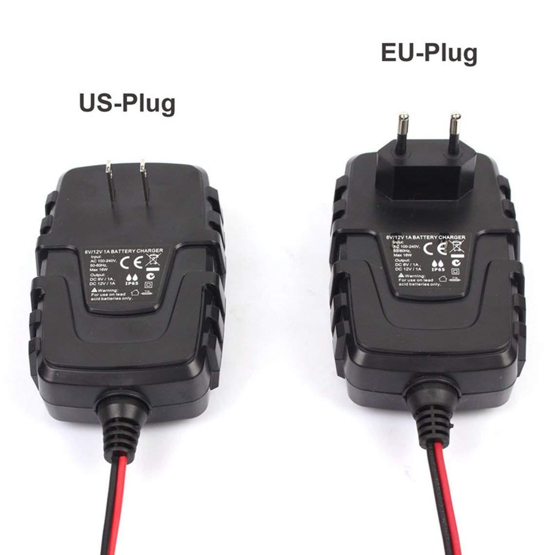 Zinniaya FOXSUR 6V 12V 1A Cargador de batería inteligente ...