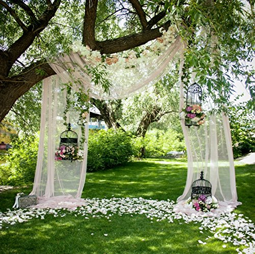 Yeele Bouquet Archway Backdrops 8x8ft /2.4 X 2.4M Bridal Shower Decoration Wedding Ceremony White Curtain Flower Door Pictures Adult Artistic Portrait Photoshoot Props Photography Background