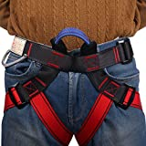Climbing Harness,Half Body Guide Harness,Protect Leg Waist Wider Safe Seat Belts for Mountaineering Outward Band Fire Rescue Working on the Higher Level Caving Rock Climbing Rappelling Equip