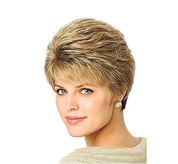 Jl Womens Perücke Kurze Glatte Haare Blonde Kurze Haare