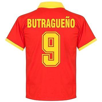 Camiseta Retro de España 1970s Local + Butragueño 9 (Estilo Fan) - M