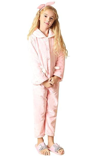 Dolamen Pijamas para Niña Navidad Pijama Ropa, Unisexo Niña Niños GRUESO Pijamas Mujer invierno,