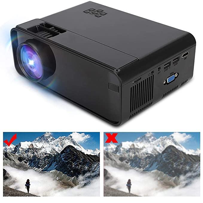 Proyector LED, UHD 4K WiFi Bluetooth 1080P Home Theater Beamer ...