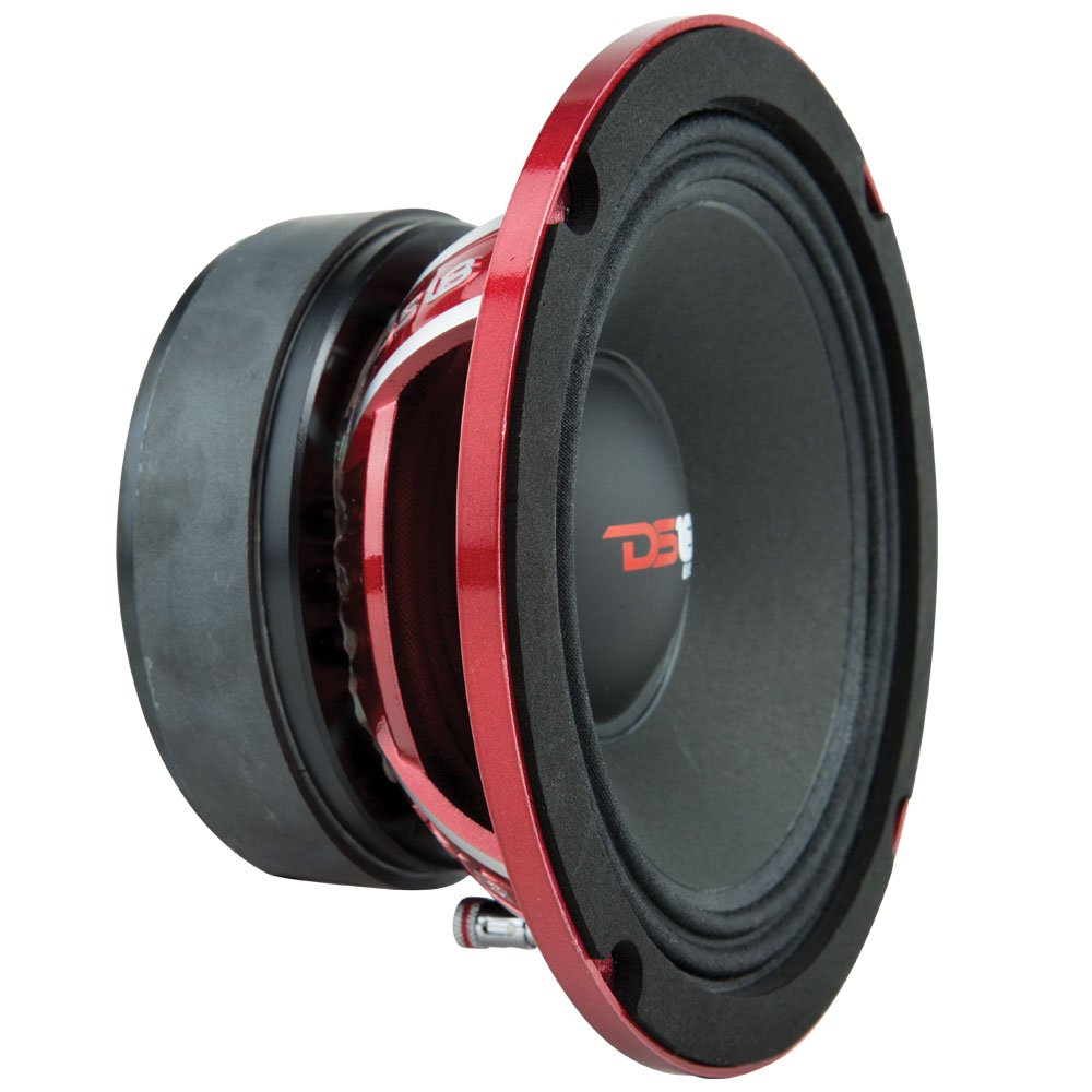 DS18 PRO-EXL68 Loudspeaker - 6.5'', Midrange, Red Aluminum Bullet, 600W Max, 300W RMS, 8 Ohms, Ferrite Magnet - For the Peple Who Live and Breathe Car Audio (1 Speaker) by DS18 (Image #4)