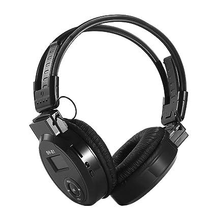 Docooler SH-S1 - Auriculares inalámbricos con Bluetooth y Reproductor de MP3 Plegables, Auriculares