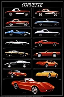 CORVETTE POSTER Classic Chevy Chevrolet RARE HOT NEW 24x36