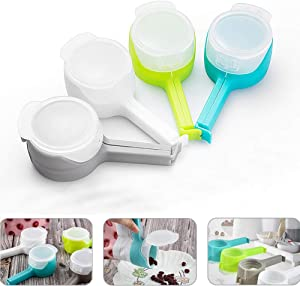 Sealing Clips, Bag Clip, Food Clip with Discharge Nozzle Plastic Bag Moisture Sealing Clamp Food Saver Kitchen Snack Tool 4 pcs