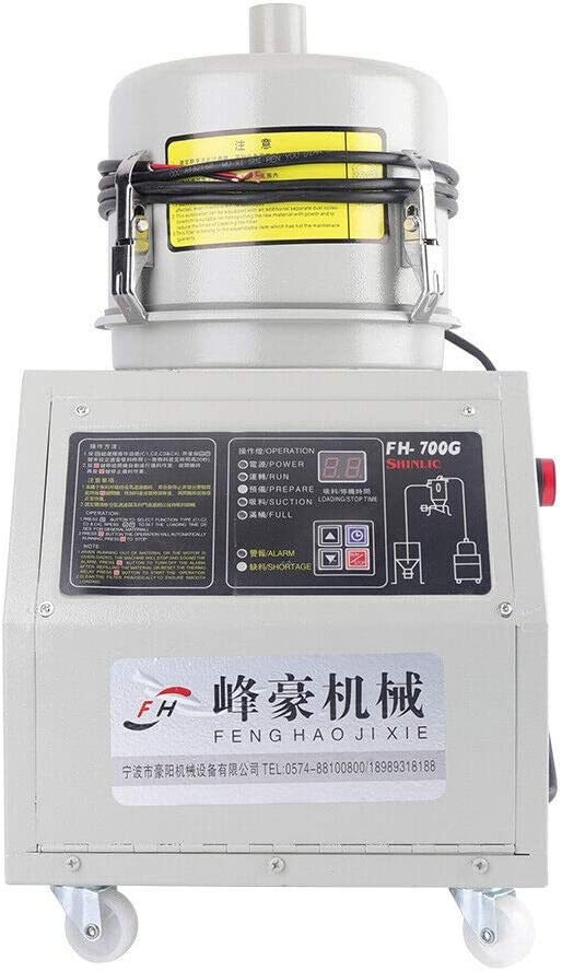 110V 310KG//H Auto Vacuum Loader Suction Feeder with Stainless Steel Hopper for Conveying Raw /& Granulated Materials Automatic Material Feeding Machine