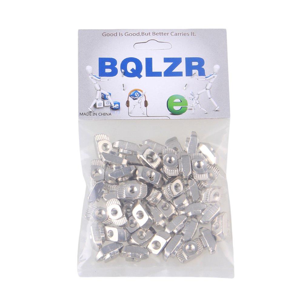 BQLZR Tuerca M3 de rosca de acero al carbono tipo T de rosca para el paquete de ranuras de extrusi/ón de perfil de aluminio europeo serie 20 de 50