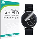 [6-PACK] Withings Activite Steel Screen Protector Full Coverage [Military-Grade] RinoGear Premium HD Invisible Clear Shield Anti-Bubble