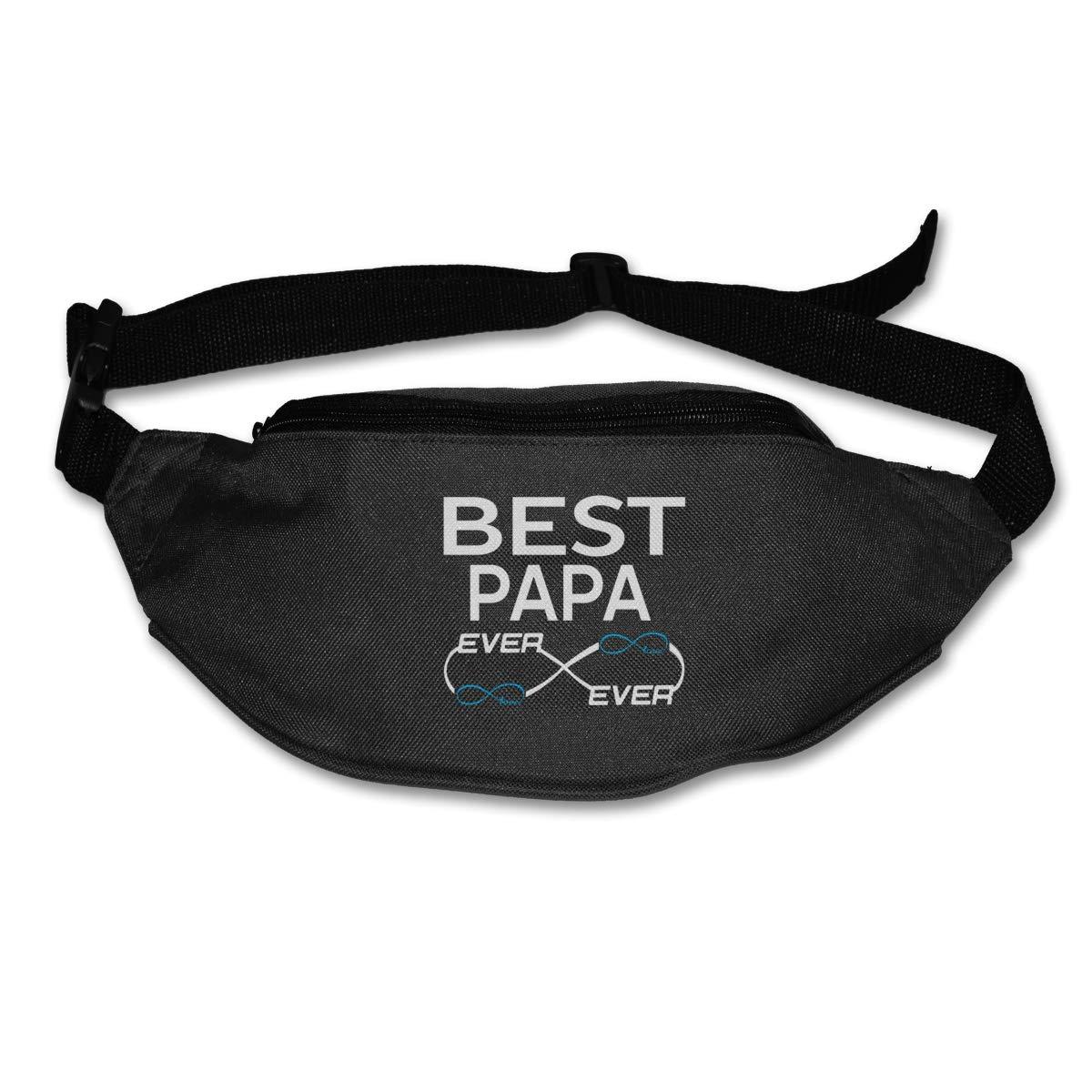Best Papa Ever Sport Waist Packs Fanny Pack Adjustable For Hike