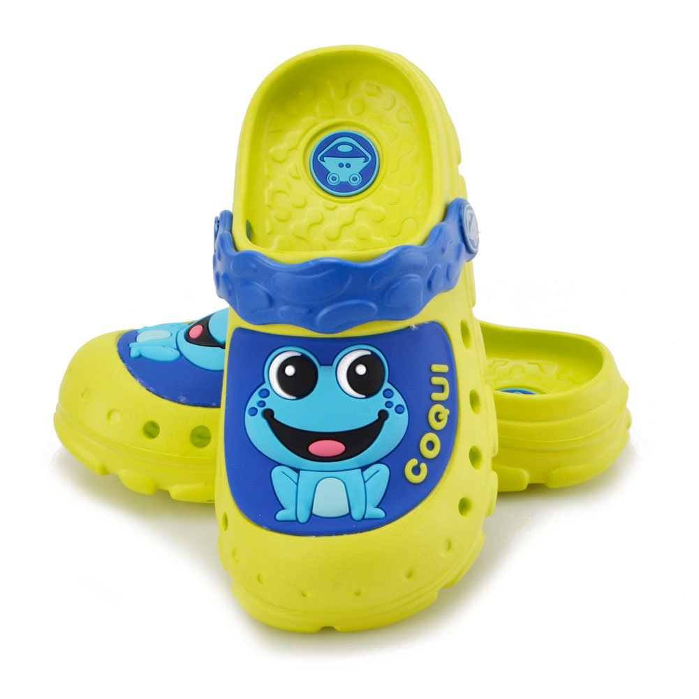 Clogs Kids Shoes Girls Boys – 2018 Summer New Launched Slip on Beach Shoes Toddler Girls Boys Little Kids Lightweight Comfortable (11.5-12.5 M US Little Kid = 6.8 In =17.5 cm, FluorescentGreen)