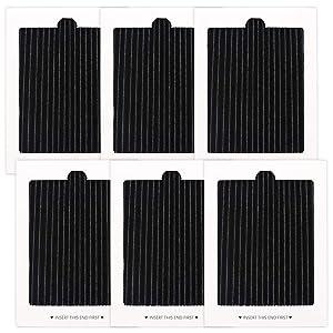 6 Pack Refrigerator Air Filters Replacement, replaces for SCPUREAIR2PK,EAFCBF PAULTRA 242047801, 242047804