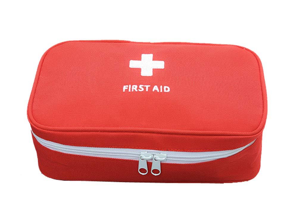 Travel Portable Medicine Storage Bag, Foldable First Aid Kit,Red