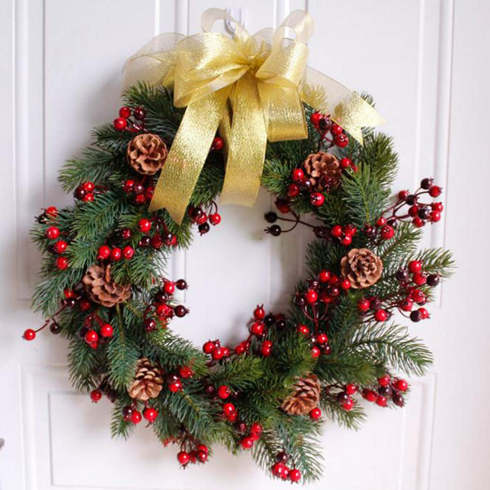 Front Door Wreath,Fall Wreath,Winter Wreath,Christmas Front Wreath,Rattan Harvest Wreath Holiday Wreath Home Decor (Outer Diameter About 18in)